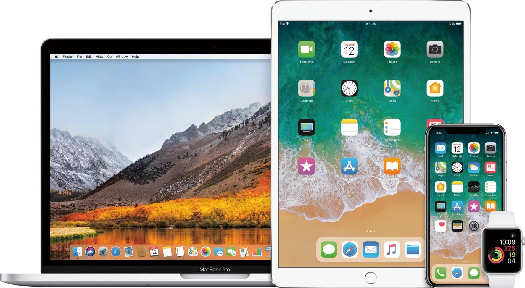MacbBook iPhone iPad