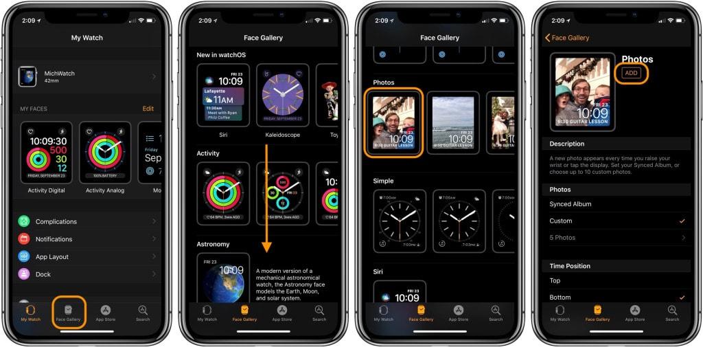 Новые циферблаты Apple Watch