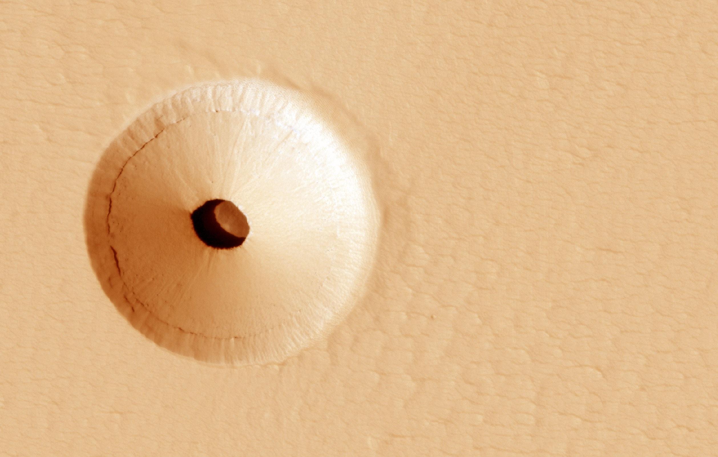 Пещера на Марсе