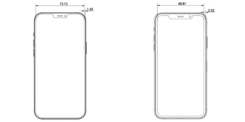 Чертеж iPhone 12 Pro Max