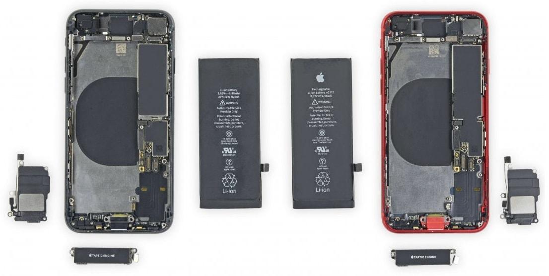 Разобранный iPhone SE