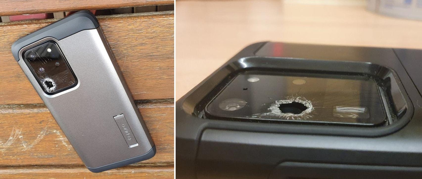 Galaxy S20 Ultra трескается камера
