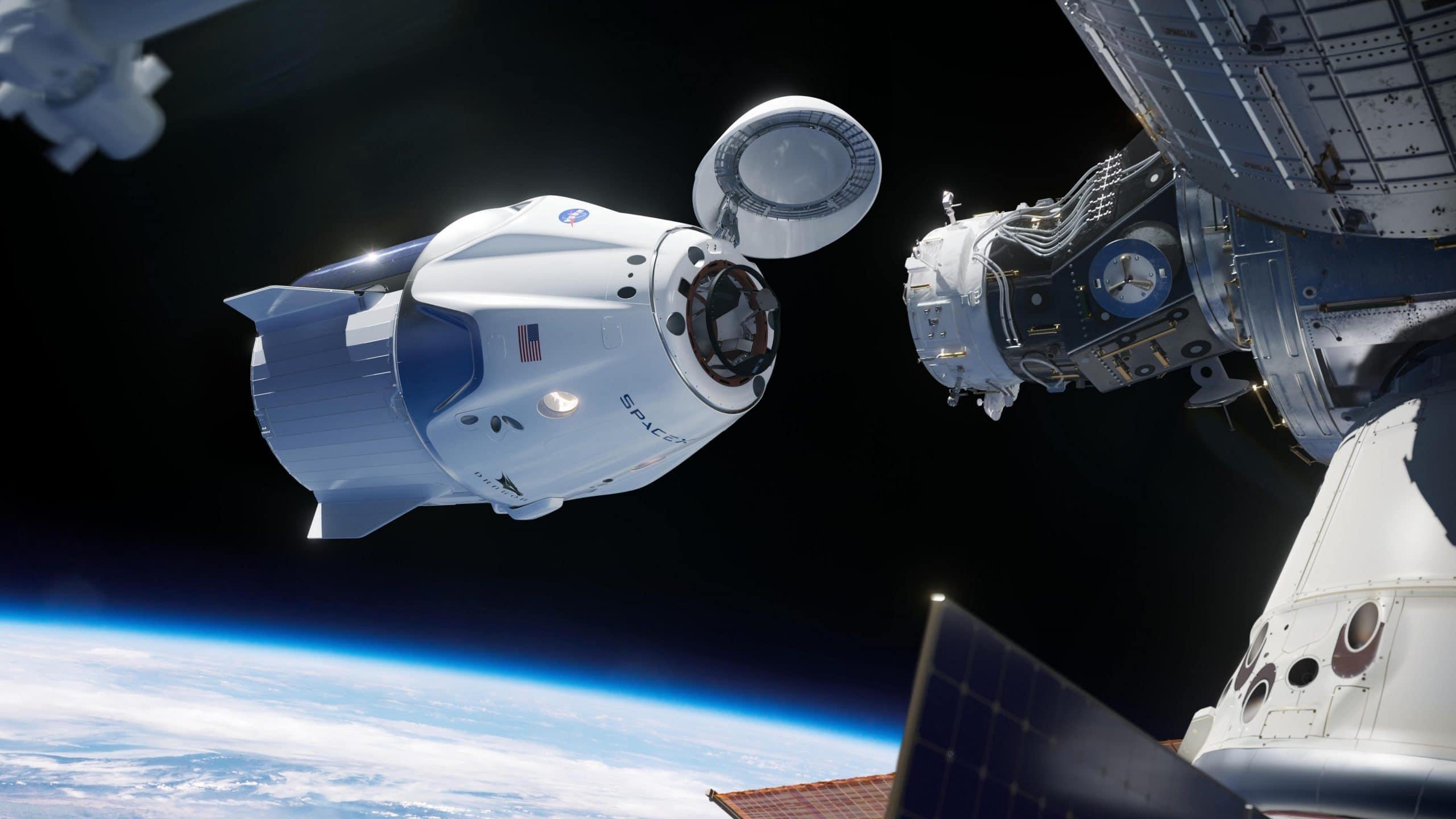 Стыковка Crew Dragon с МКС