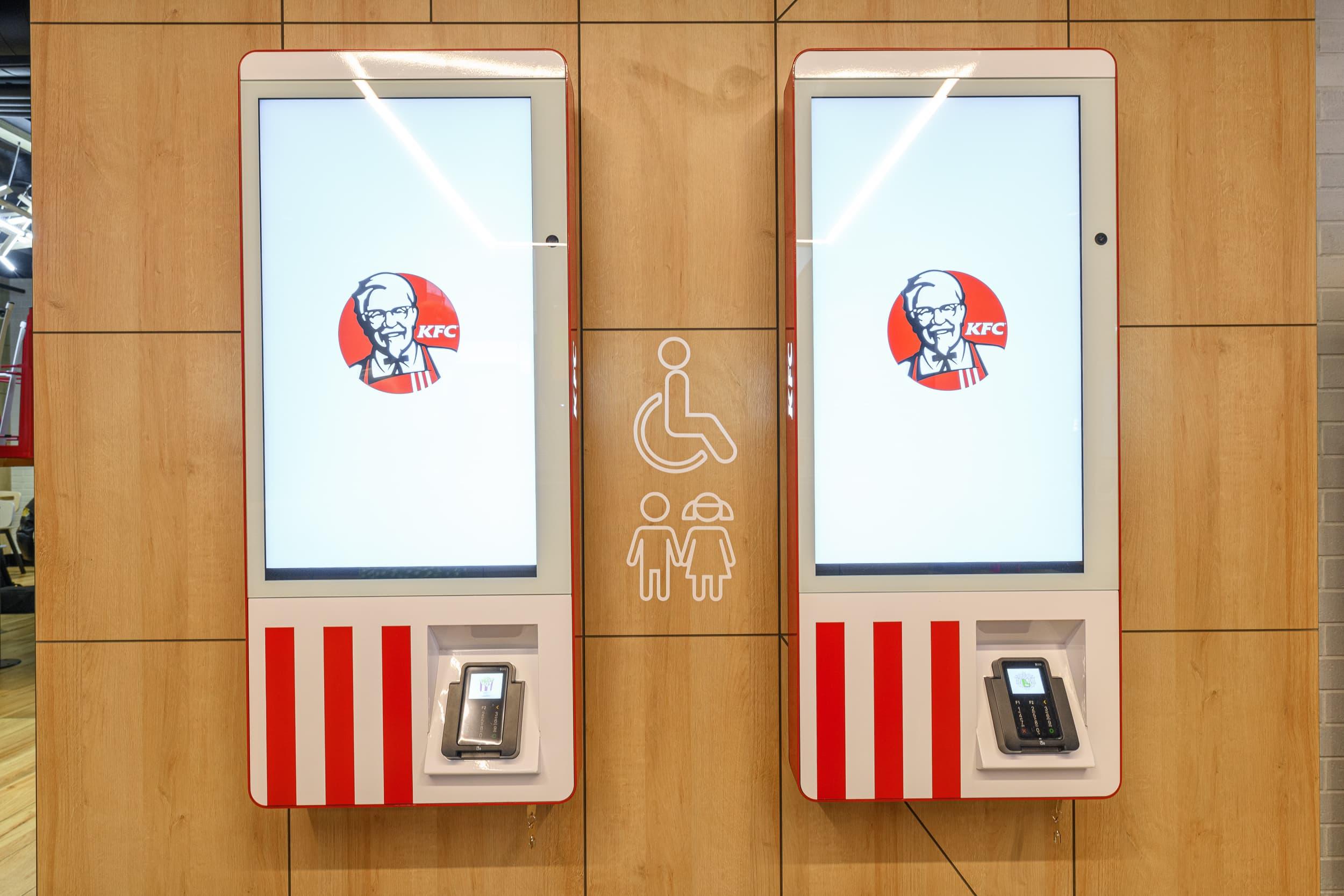KFC ресторан с роботами