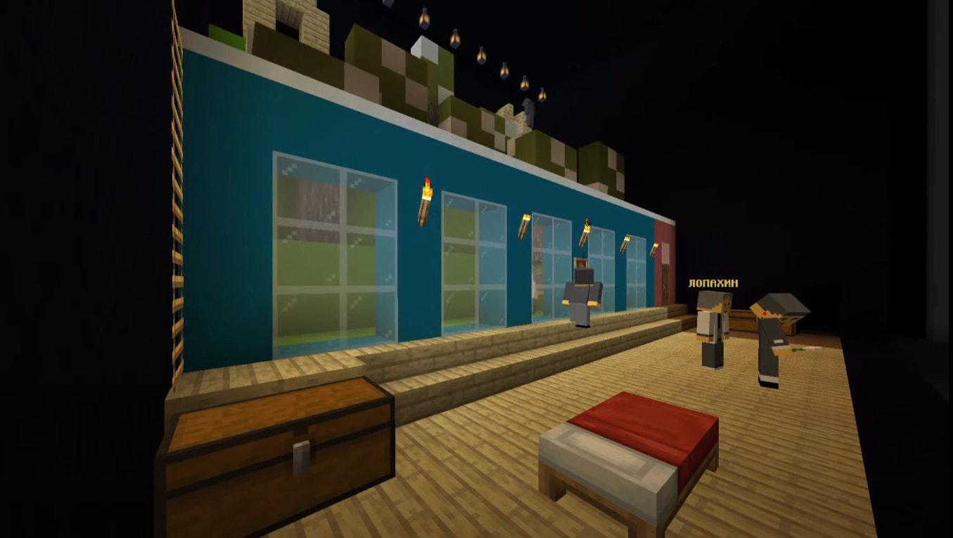 Спектакль в Minecraft