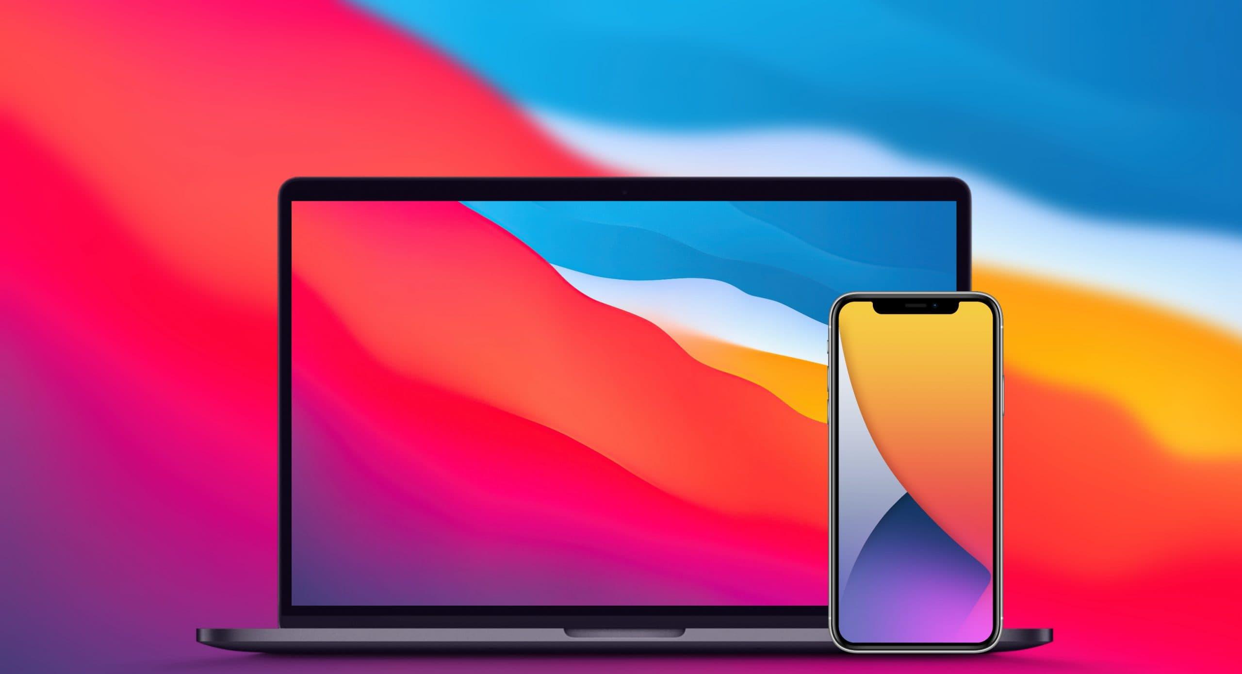 Обои из iOS 14 и macOS Big Sur