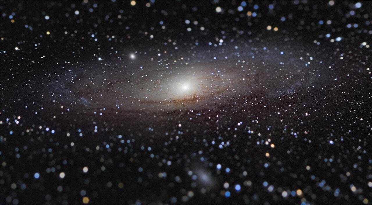 Галактика Андромеды на расстоянии вытянутой руки