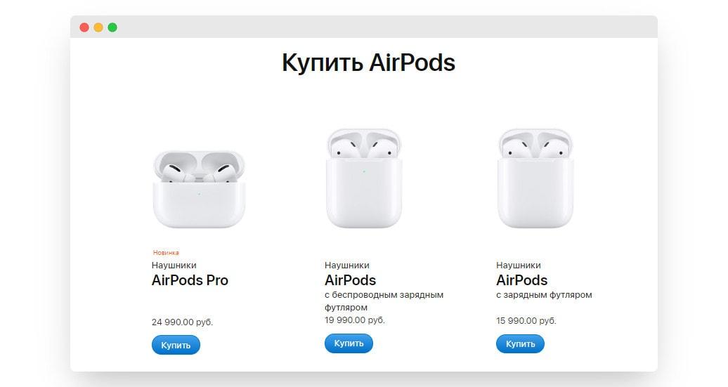 цены AirPods