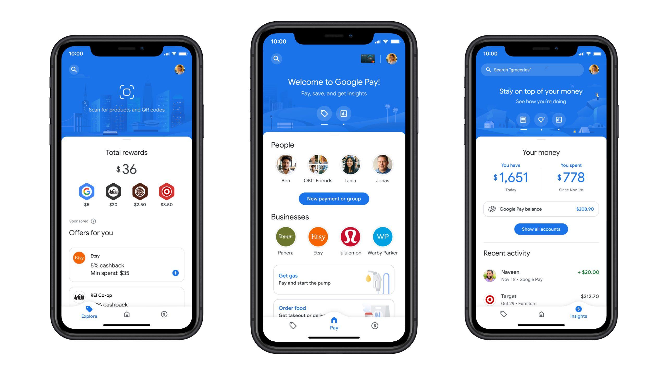 Google Pay редизайн